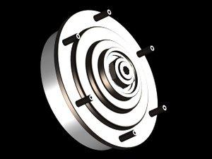 3d model electric fan clutch
