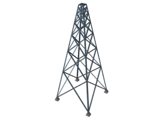 3d radio cell tower