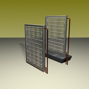 3d model hot cold coils air condition