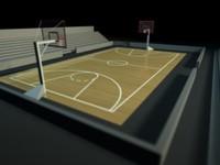 basketball court 3d model