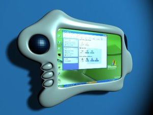handheld tablet pc 3d obj
