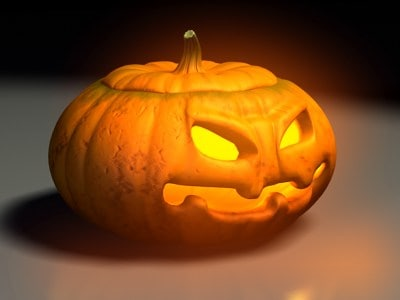 3d carved halloween pumpkin