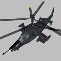 helicopter ka-50 fighter wavefront 3d model