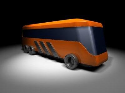 3d city touring bus