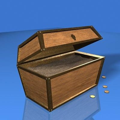 3d treasure chest model