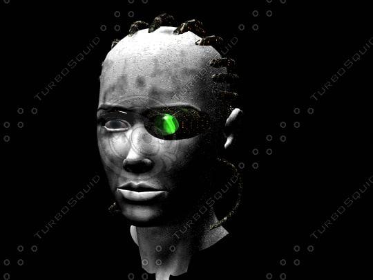 new cyborg 3d model