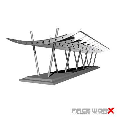 entrance shed 3d max