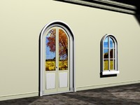 french doors 3d max
