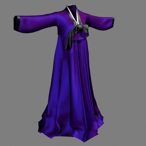 traditional dress 3d model