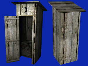 3d outhouse maps object