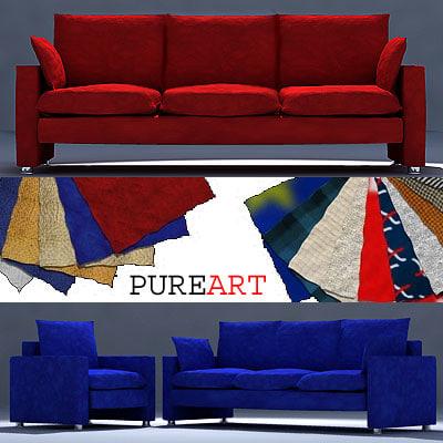 upholstered furniture divan 3d model