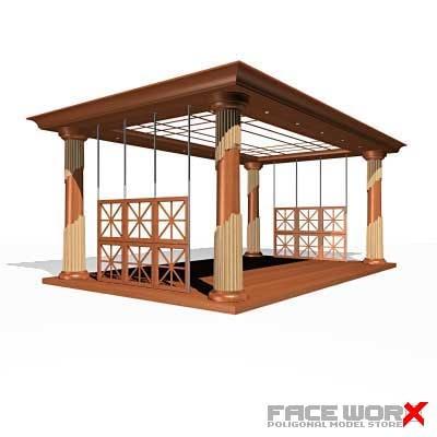 shed pavilion 3d model