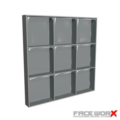 3d model glassblocks window glass