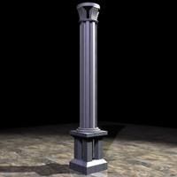 modern architectural column 3d model