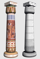 3d egyptian column