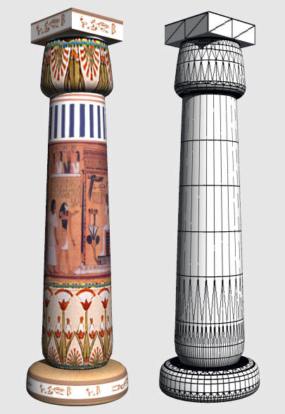 3d egyptian column