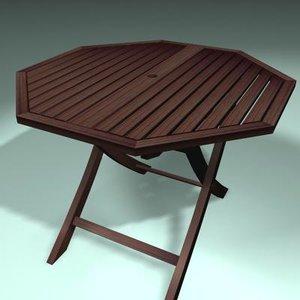 garden table 3d c4d
