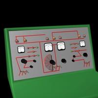 sci-fi control console 3d lw