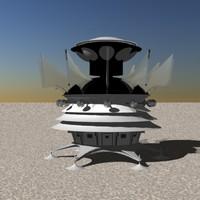 lightwave space ship