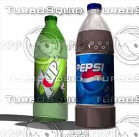 3d pepsi bottles model