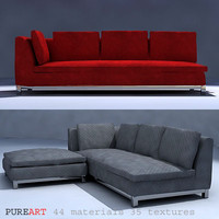 upholstered furniture divan 3d model