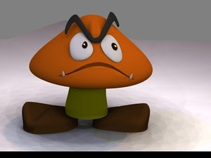 3d goomba mario gamecube model