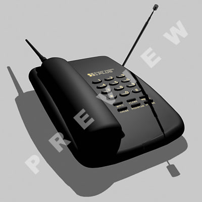 3d model phone panasonic