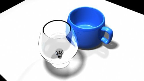 coffee cup wine glass 3d model