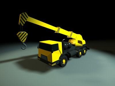 mobile construction crane dxf