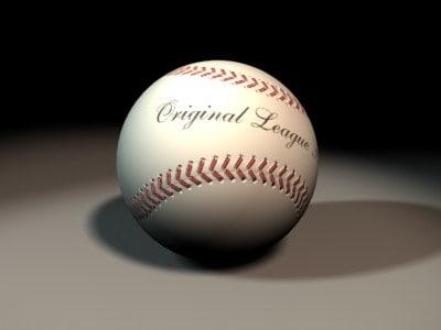 3ds max baseball ball