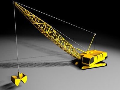 crawler construction crane 3d model