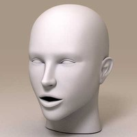 3d model caucasian female head