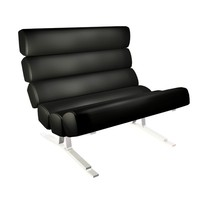 3d designer plunket lounge chair model