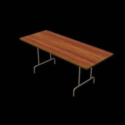 3d model of folding table
