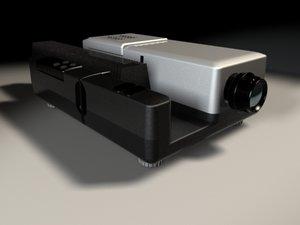 projector slides 3d model