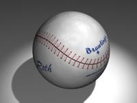 baseball ball 3d max