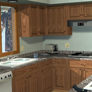 3d cabinets architectural model