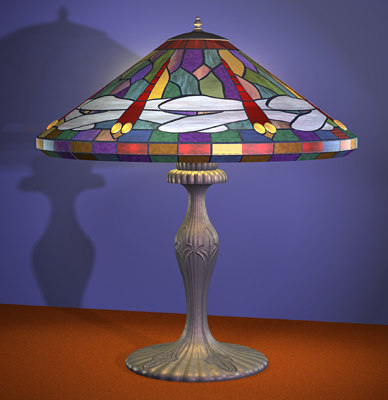 tiffany lamp dragonfly 3d model