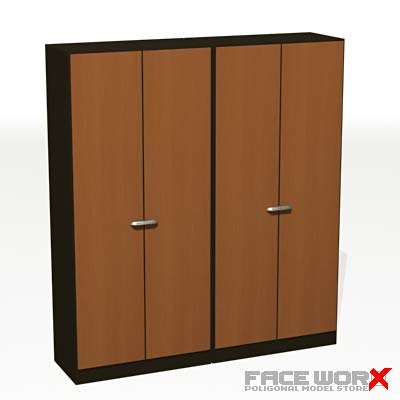 3d model wardrobe cabinet