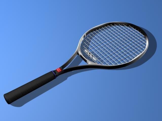 3d model of wilson tennis racket