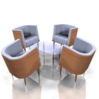 tub chairs table max