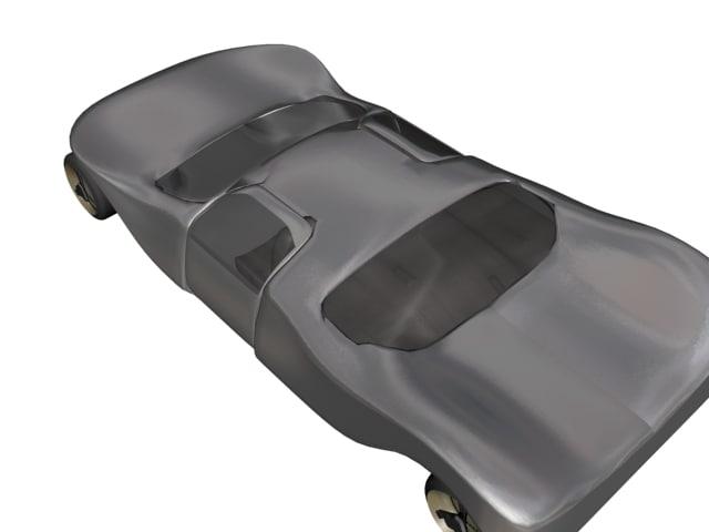 free car dodge sportscar 3d model