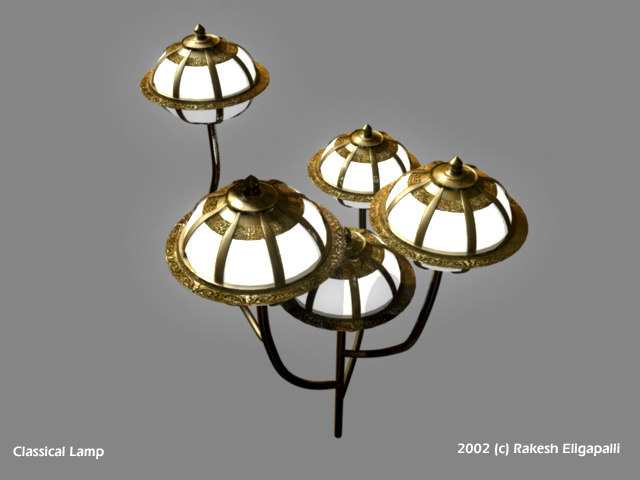 antique lamp 3d model