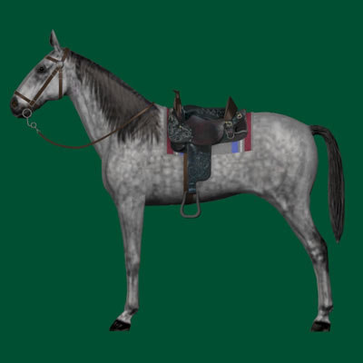 horse animate 3d model