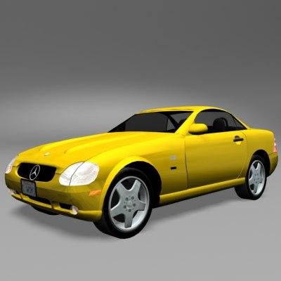 3ds max sports car slk