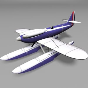 marine airplane 3d model