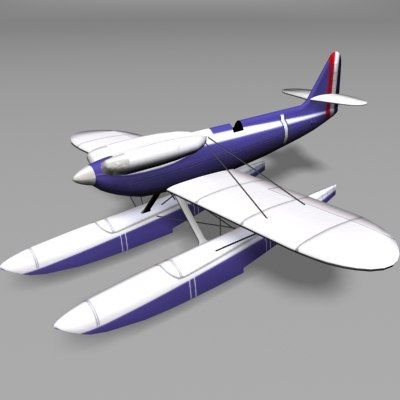 marine airplane 3d model