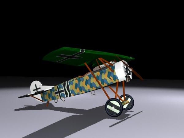 3d planes fokkerdviii model