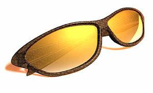 3d tortoise shell sunglasses model