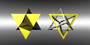 merkaba tetrahedron 3d model